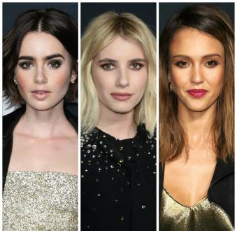 As makes das famosas no desfile de Saint Laurent 2016: confira os looks de Emma Roberts, Jessica Alba e outras
