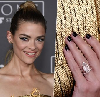 Meia-lua com glitter de Jaime King é destaque no red carpet do filme 'Rogue One: Uma História Star Wars'
