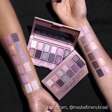 Aproveite as possibilidades de cor rosa nude da paleta The Blushed Nudes e arrase na make (Foto: Instagram @maybellinenybrasil)